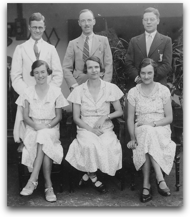 Lesslie &amp; Helen Newbigin, Cecil &amp; Eleanor Cutting, Wilfred &amp; Mary Hulbert 1937
